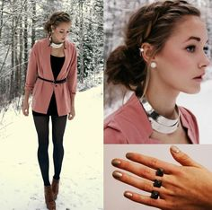 Easy! All I need is a pale pink sweater and those shoes...and that ring.