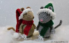 Christmas Hat and Scarf For Mouse « The Yarn Box