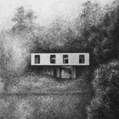 Casa Guna,Pintura, óleo sobre tela