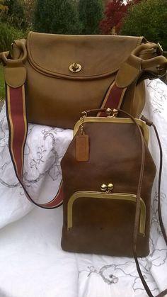 Vintage lot of 2 Bonnie Cashin Coach Handbags. Coach Handbags Outlet, Coach Outlet, Coach Purses, Purses And Handbags, Replica Handbags, Vintage Bags, Vintage Coach, Vintage Handbags, Cheap Coach Bags