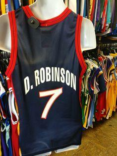 Vtg 7 DAVID ROBINSON USA Dream Team NBA Champion Jersey 40 (Deadstock) 718090029