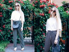 More photos on my blog: http://lisafilonenko.blogspot.com/2017/06/striped-black-pants.html.                                You can buy from zaful website and use Coupon: ZafulChen