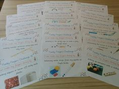 Funky fingers challenge cards Gingerbread Man Activities, Finger Gym, Funky Fingers, Motor Activities, Eyfs, Fine Motor Skills, Amazing Gardens, Literacy, Challenge Cards