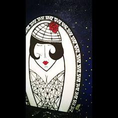 Minha noite estrelada - R$350,00 Acrílica - tela 60X20 arte - art - pintura