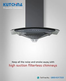 With a unique one-touch dry auto clean technology which cleans the oil deposited on inner housing, #Kutchina Chimneys help you with a low noise level and long-lasting copper winding motors. Explore our range of chimneys: https://goo.gl/naHsFj #ModernKitchen #DesignedForConvenience #HappyKitchen #HappyHome #KitchenLove