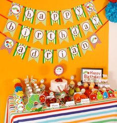 I am loving Etsy for their cool party supplies . Hungry Caterpillar party ideas