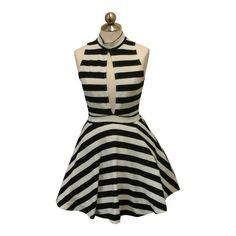 Lydia Striped Skater Dress