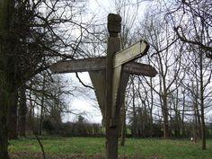 Ancient Tacolneston signpost
