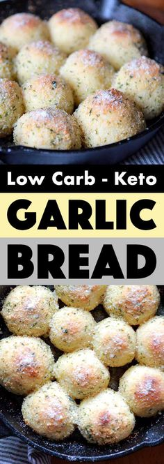 Low Carb Keto Garlic Bread Rolls – Resolution Eats This recipe for Keto garlic bread is the perfect way to start a meal. And luckily for us, each of these low carb rolls has just net carbs. No Bread Diet, Best Keto Bread, Low Carb Desserts, Low Carb Recipes, Healthy Recipes, Bread Recipes, Diet Recipes, Lunch Recipes, Dessert Recipes