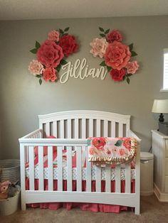 DIY Nursery Decor Ideas for Your Little Darling! Diy Nursery Decor, Baby Room Decor, Nursery Room, Girl Nursery, Girl Room, Nursery Ideas, Room Ideas, Baby Room Themes, Floral Nursery