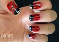 lady bug nail design for summer