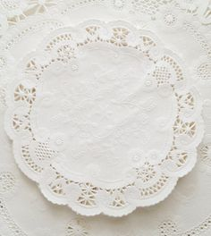100 White French Lace Paper Doilies, Weddings, Bridal Shower, Baby Shower, Scrapbooking 5 Inch