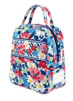 45510edab5ab Amazon.com  Vera Bradley Lunch Bunch in Summer Cottage  Reusable Lunch  Bags  Kitchen   Dining