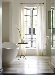 peaceful asian and french bathroom