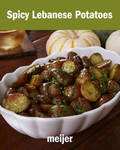 Kick things up a notch with this aromatic and delicious Spicy Lebanese Potatoes recipe. Potatoes are roasted until crispy & tossed in a sauce of garlic, cilantro, cayenne & lemon. Side Recipes, Vegetable Recipes, Vegetarian Recipes, Cooking Recipes, Healthy Recipes, Lebanese Recipes, Potato Dishes, Middle Eastern Recipes, Vegetable Side Dishes