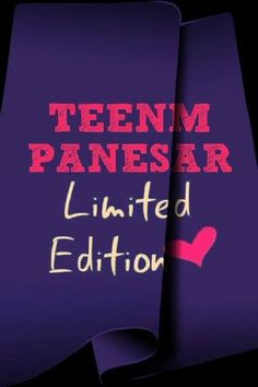 Teenm Panesar Limited Edition