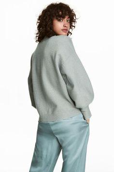 Джемпер - Приглушенный зеленый/Блестящий - Женщины | H&M RU 1