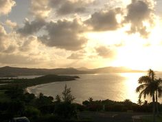 Sunset on the island of St. Croix