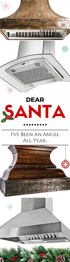 Ask Santa for a gift you can use for years! What better gift to give yourself than a new beautiful Range Hood? Whether you are remodeling, just moved into a new home, or need a Range Hood Makeover, a Hood from Proline will give you the Dream Kitchen you've always wanted! www.Prolinerangehoods.com