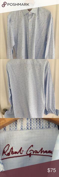 NWT Robert Graham Long Sleeve Hoodie Set Grey Sz M-XXL $168