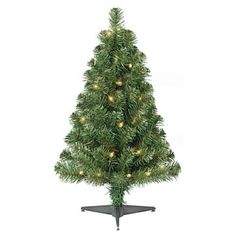 2ft Pre-Lit Artificial Christmas Tree Alberta Spruce - Clear Lights