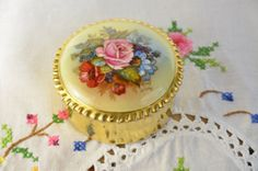 Aynsley bone china jewelry box/ JA Bailey/ signed by VieuxCharmes