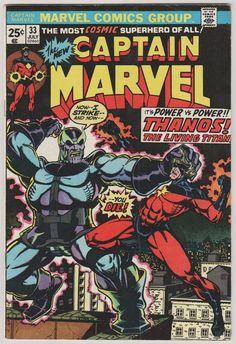 Captain Marvel V1 33. VF.  July 1974.  Marvel by RubbersuitStudios  #captainmarvel #thanos #comicbooks