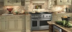 Visit a Monogram Design Center to experience Monogram appliances in person. English Country Kitchens, Country Kitchen Designs, Monogram Appliances, Modern Country Style, Kitchen Pictures, Monogram Design, Kitchen Styling, Drinking Tea, Live Life