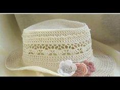 gorro de verano a crochet parte 2 - YouTube