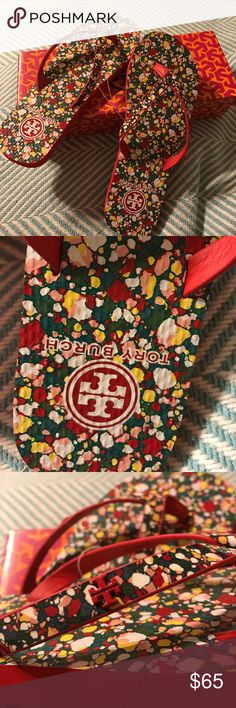 🌈Price FIRM🌈Tory Burch flip flops NWT Red color . Extra gift 🎁 when purchased choose item listed 🎁🎁🎁 Tory Burch Shoes Slippers