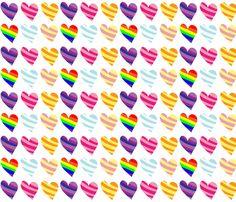 My little pony mane 6 hearts fabric by kyashi on Spoonflower - custom fabric