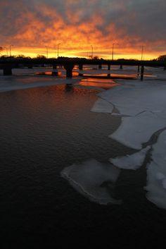 Sunrise over Waterloo, Iowa