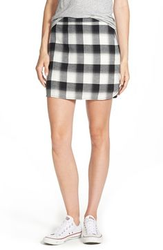 Treasure&Bond Plaid Miniskirt available at #Nordstrom short skirt