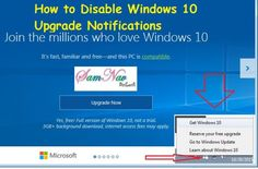 Disable Windows 10 Upgrade Notifications