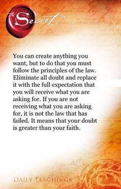 #The Secret ~ Law of Attraction ❤