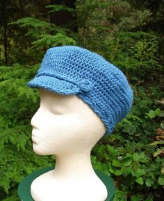 Liberty Cap - PA-113 - A crochet pattern from Nancy Brown-Designer. Make a fashion statement with this fabulous cap that is sized for comfort, fit and wear-ability for the average adult woman's head. This pattern PDF can be purchased at my Craftsy Pattern Store for $3.29, just click on the photo.