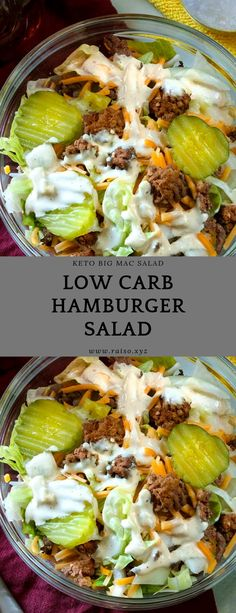 Keto Big Mac Salad Low Carb Hamburger Salad carbohydrates Source by katiecolejordan Related posts: Snack time! Perfect Your Salad Game food recipes healthy weight loss salads health healthy f… Low Carb Keto, Low Carb Recipes, Diet Recipes, Healthy Recipes, Crab Recipes, Diet Meals, Easy Recipes, Recipies, Fresco