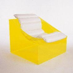 Rossi Molinari; Plexiglass 'Toy' Chair for Totem, 1968.