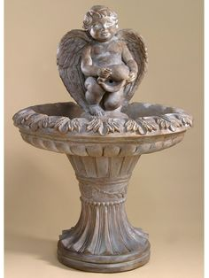 Angel Fountain With LED Light GIL Indoor Fountains - Indoor fountain kits