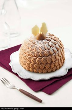 Mont blanc cake! Piece of art! looks so delicious... from Telford Plaza in Hong Kong.