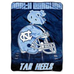 Bed Blanket North Carolina Tar Heels NCAA 60X80 Inches Team Color