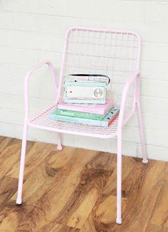 Boho Deco Chic: ANTES Y DESPUÉS: Como darle a una silla de metal una nueva vida con chalk paint!