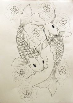 I def want Asian inspired with koi fish and lotus flowers in water for represent my time in japan