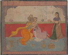 Krishna Kisses Radha: Page from the Boston Rasikapriya (Lover's Breviary), ca. 1610. India (Rajasthan, Amber?). The Metropolitan Museum of Art, New York. Gift of The Kronos Collections, 1991 (1991.404.2)