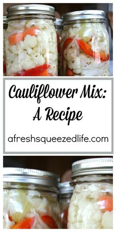 As soon as I see cauliflower in season and on sale in my grocery store, I make Cauliflower Mix! It's one of our family's favorites.