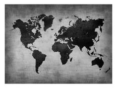 World Map 8 Poster by NaxArt at AllPosters.com