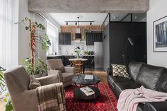〚 Scandinavian apartment in Moscow 〛 ◾ Photos ◾Ideas◾ Design Restaurant Interior Design, Modern Interior Design, Interior Architecture, Loft Spaces, Modern Spaces, Dinner Room, Scandinavian Apartment, Beautiful Interiors, Room Interior