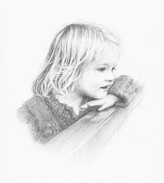 Pencil portrait of a child in graphite pencil on paper. Click the picture or the 'read it' button above to see the pencil portrait gallery Pencil Sketch Portrait, Portrait Sketches, Portrait Art, Pencil Drawings, Album Cover, Drawing Exercises, Black And White Painting, Cool Sketches, Portraits