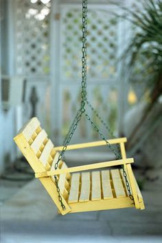 A Yellow Porch Swing Fine Art Photo. $25.00, via Etsy.