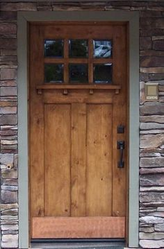 copper kick plate craftsman style front